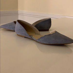 Adrienne Vittadini Shoes - Light blue suede ballet flats
